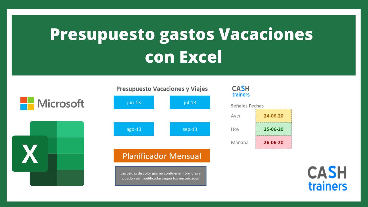 Plantilla Excel Presupuesto gastos Vacaciones
