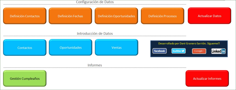 CRM Excel. Ejemplo 1