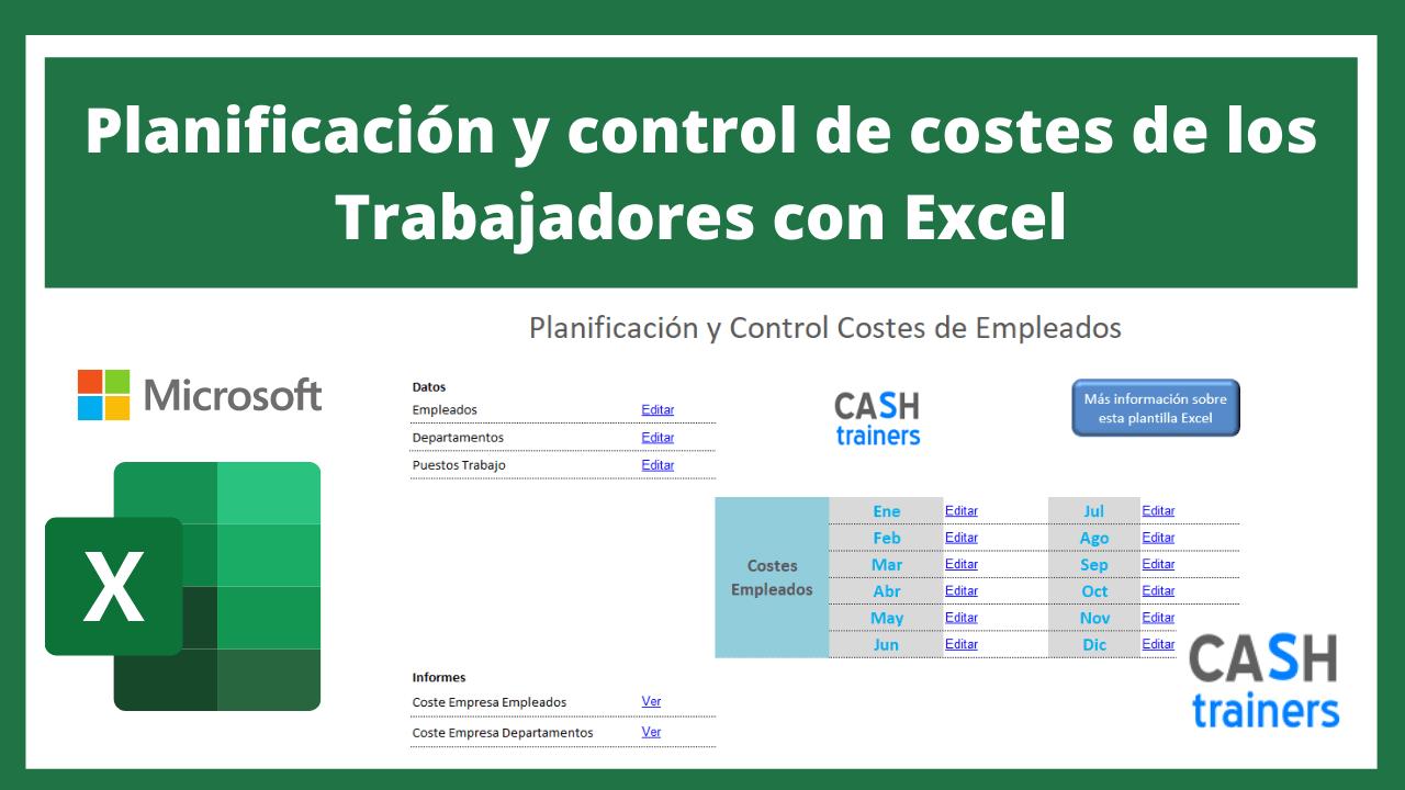 Plantilla Excel Planificación y control de costes de los Trabajadores
