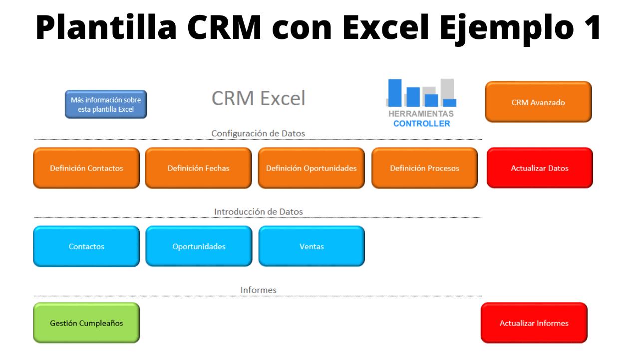 Plantilla CRM con Excel Ejemplo 1