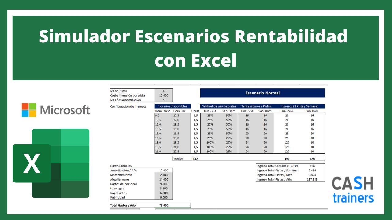 Plantilla Excel Simulador Escenarios Rentabilidad