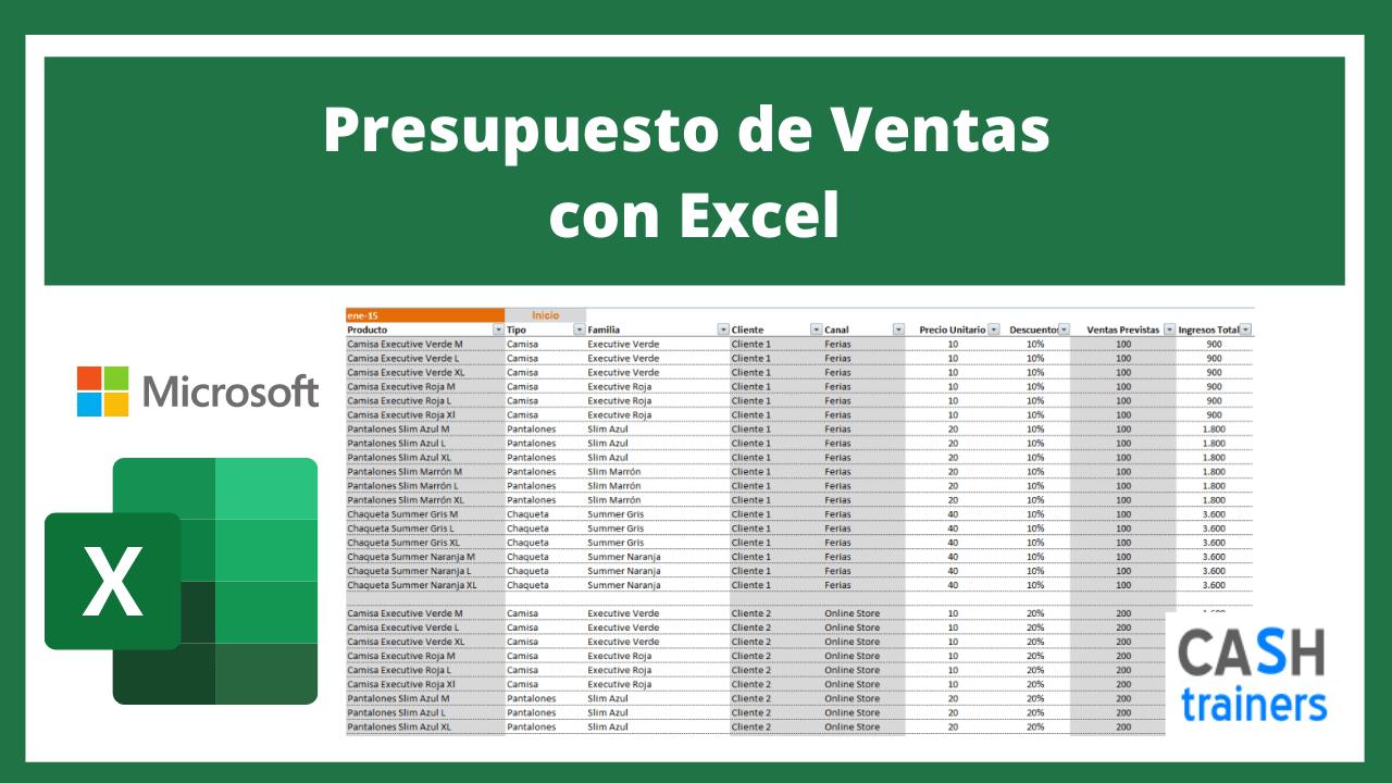 Plantilla Excel Presupuesto de Ventas