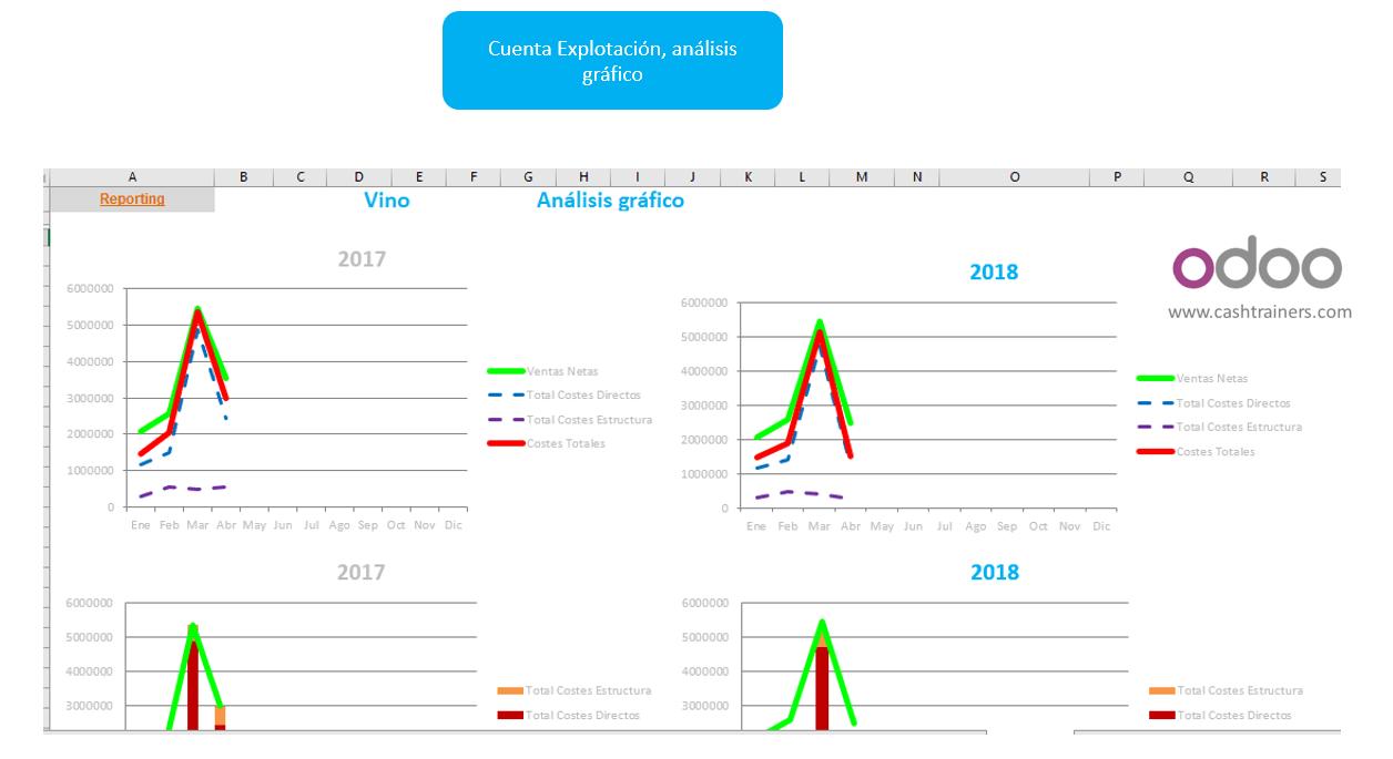 análisis-gráfico-cuenta-explotación-analítica-para-erp-ODOO