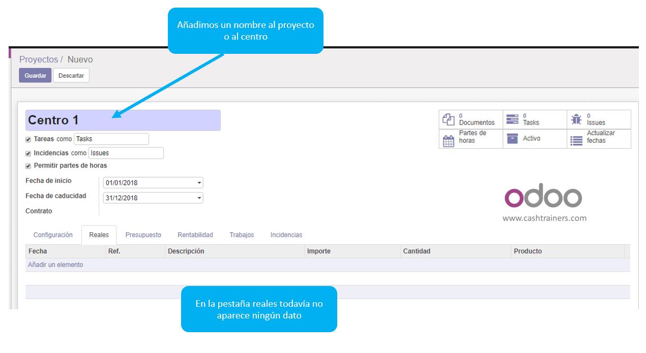 03 asignación nombre a la cuenta analítica ERP ODOO 2