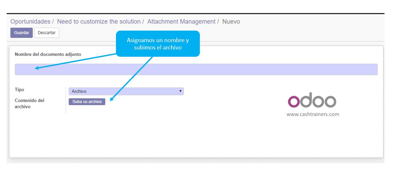 botón subir documentos ERP ODOO