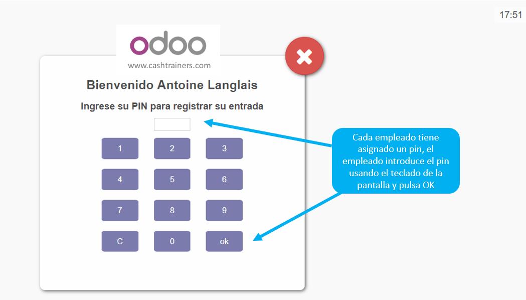 introducción-de-pin-para-iniciar-registro-asistencia-ERP-ODOO