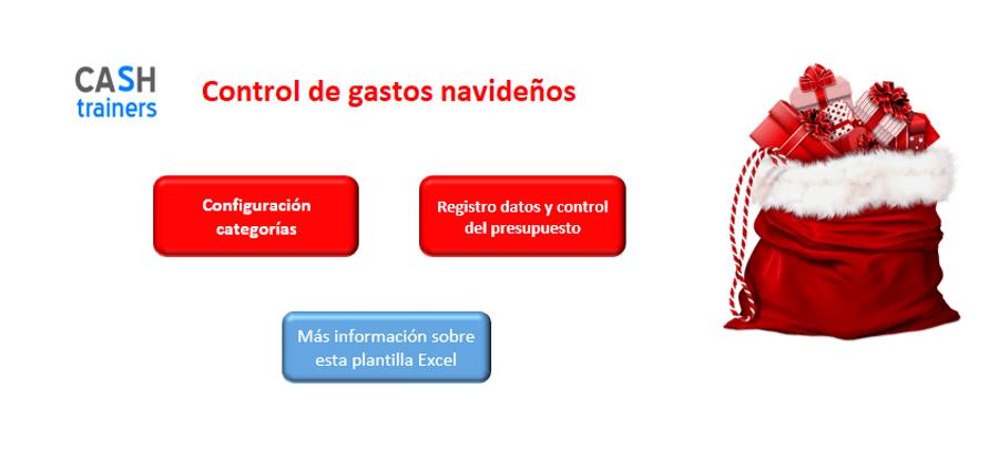 Panel-control-plantilla-excel-gastos-navideños