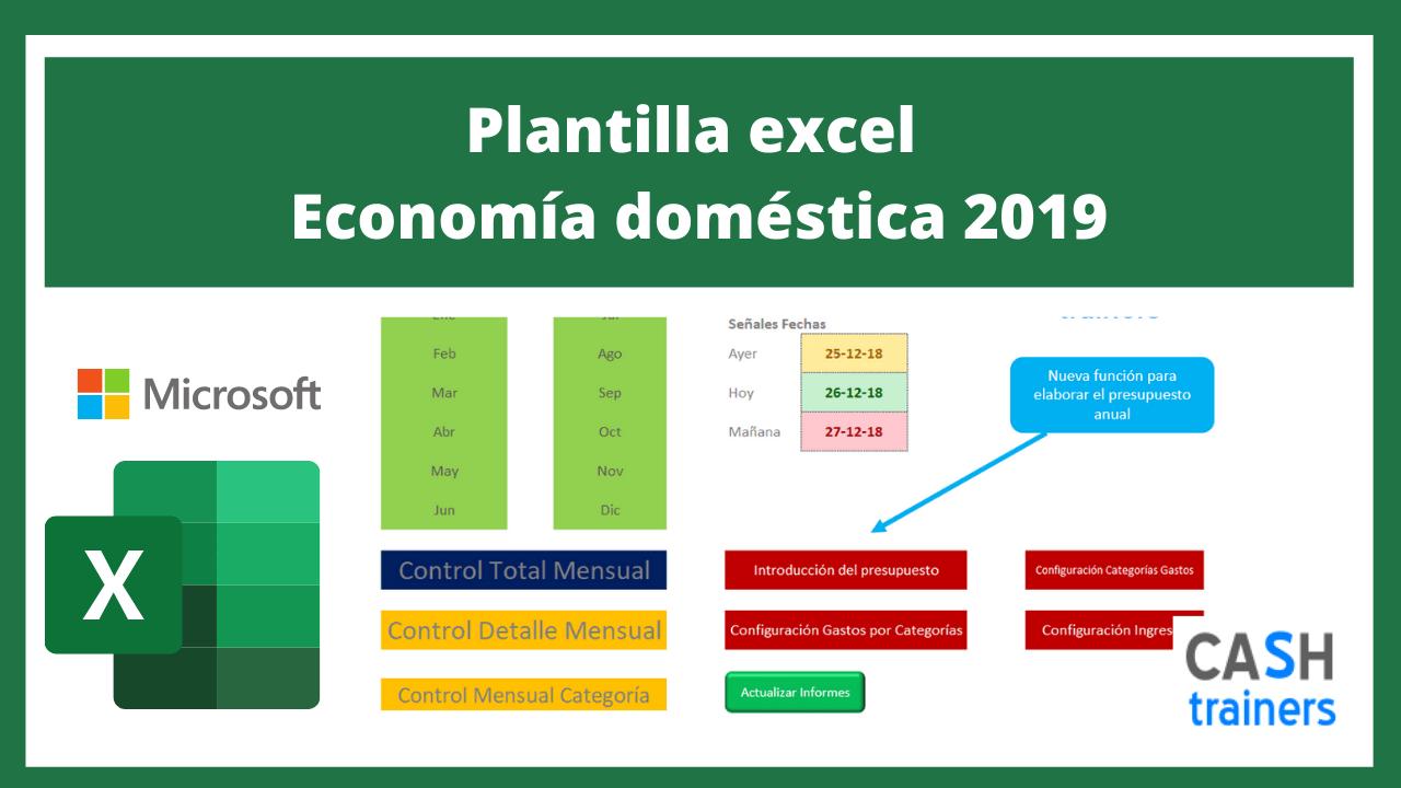 Plantilla Excel Economía doméstica 2019