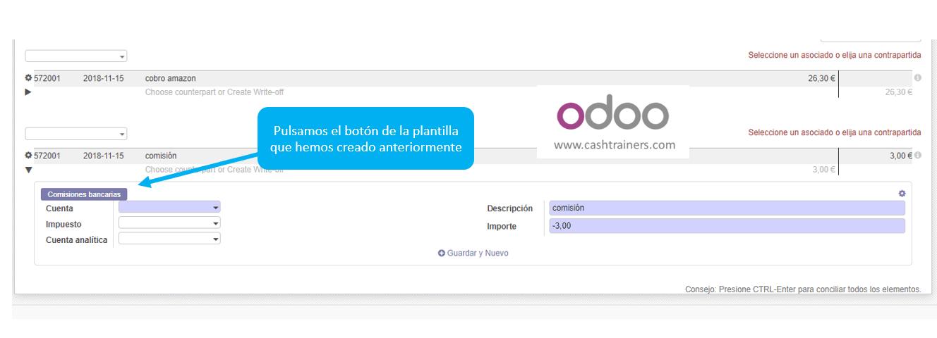 selección-plantilla-conciliación-en-contrapartida-extractos-ERP-ODOO