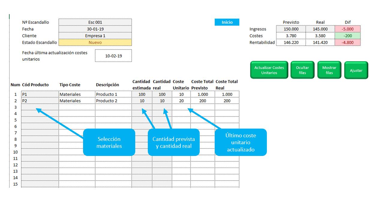 elaboración-escandallo-por-proyectos-plantilla-excel