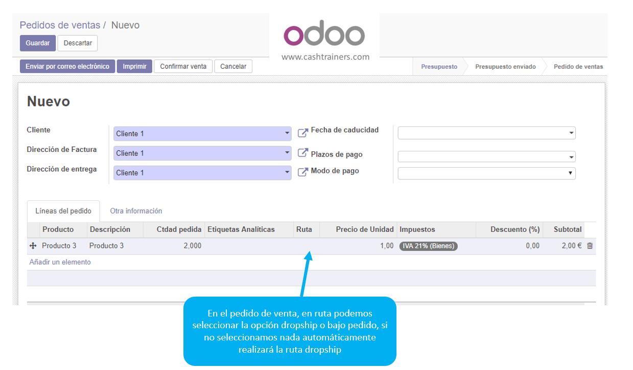 selección-ruta-dropship-pedido-venta-ERP-ODOO