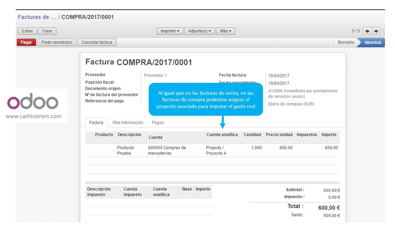 asignación-proyecto-o-cuenta-analítica-en-factura-compras-ERP-ODOO