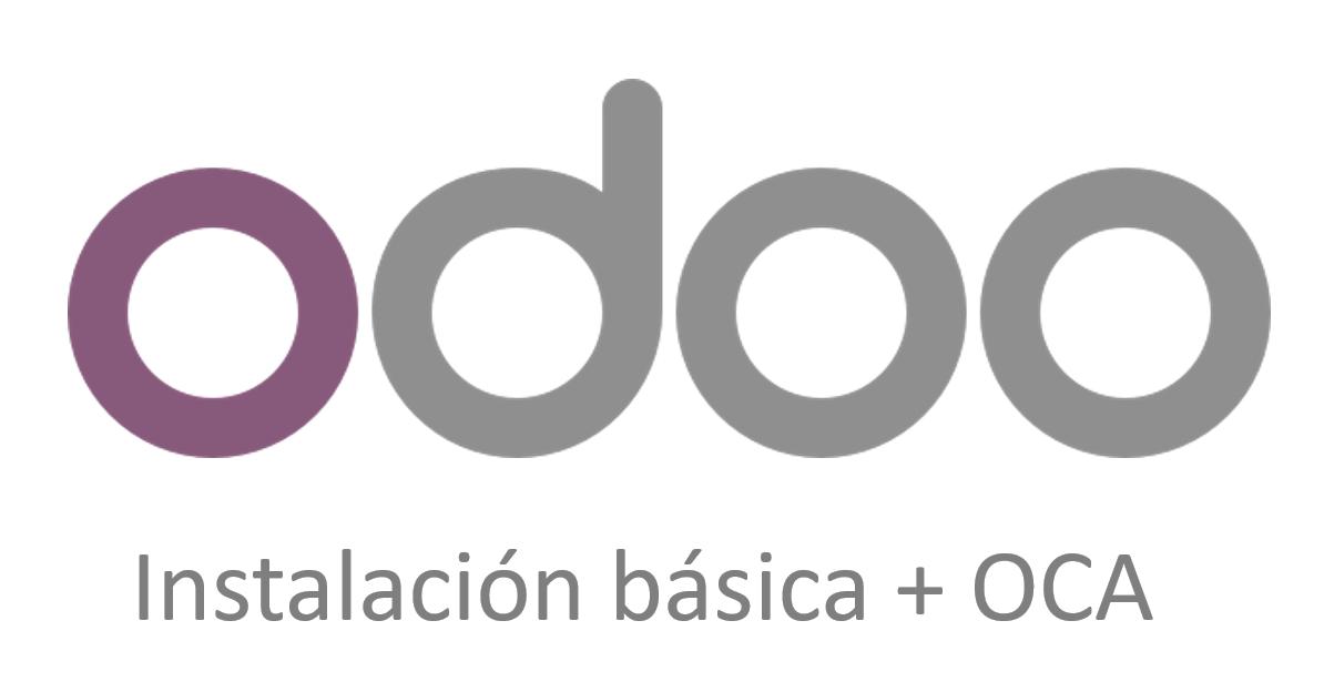 Instalación básica ERP ODOO