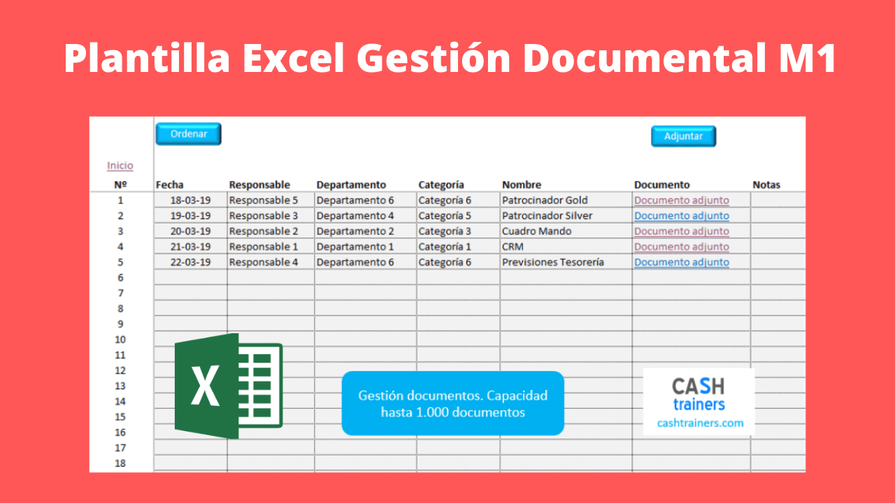 Plantilla Excel Gestión documental M1