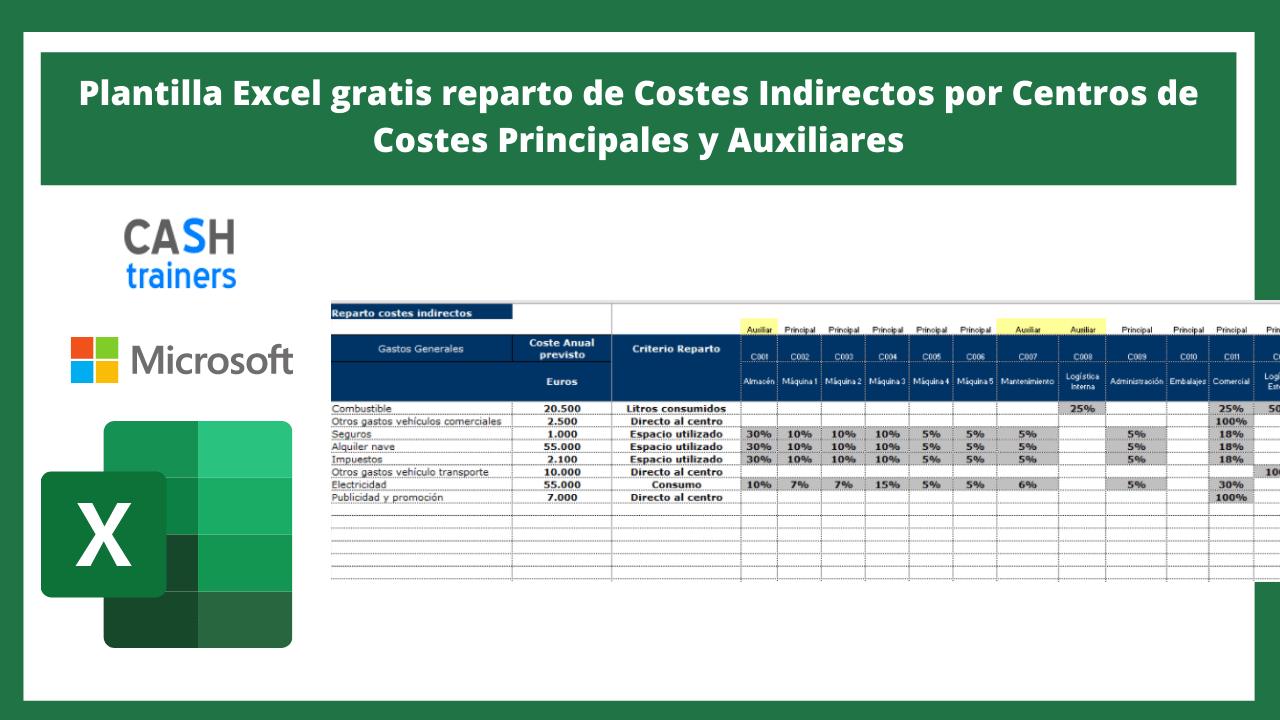 reparto costes indirectos Excel