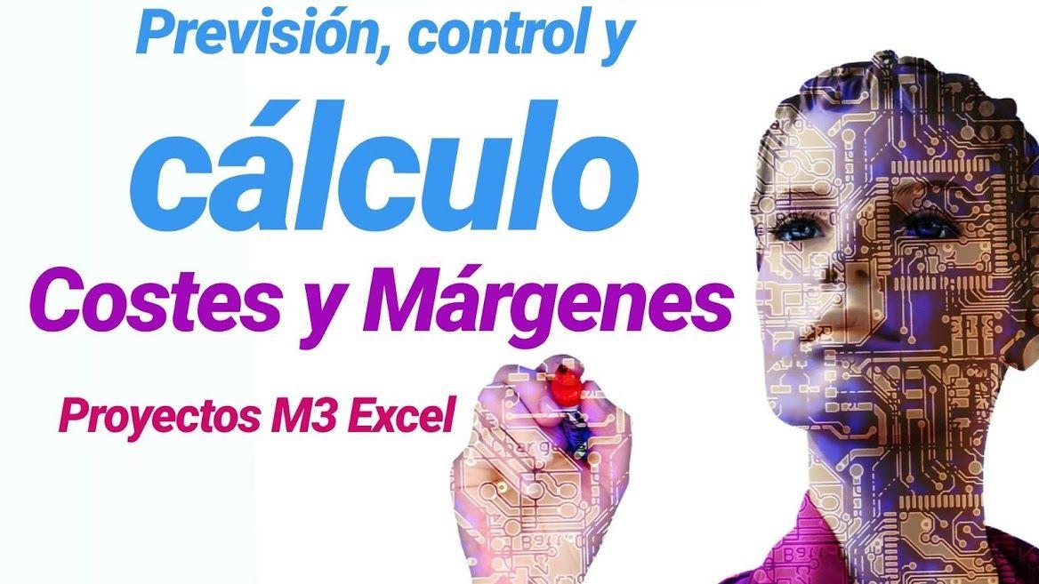previsión, control y cálculo costes y márgenes proyectos M3 Excel