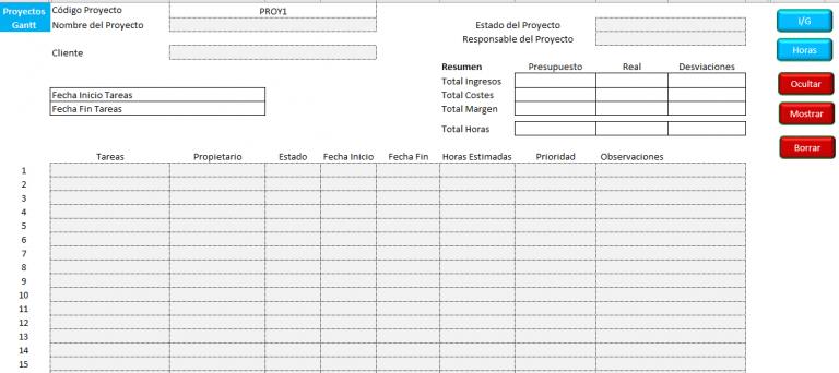 Rentabilidad Proyectos Excel