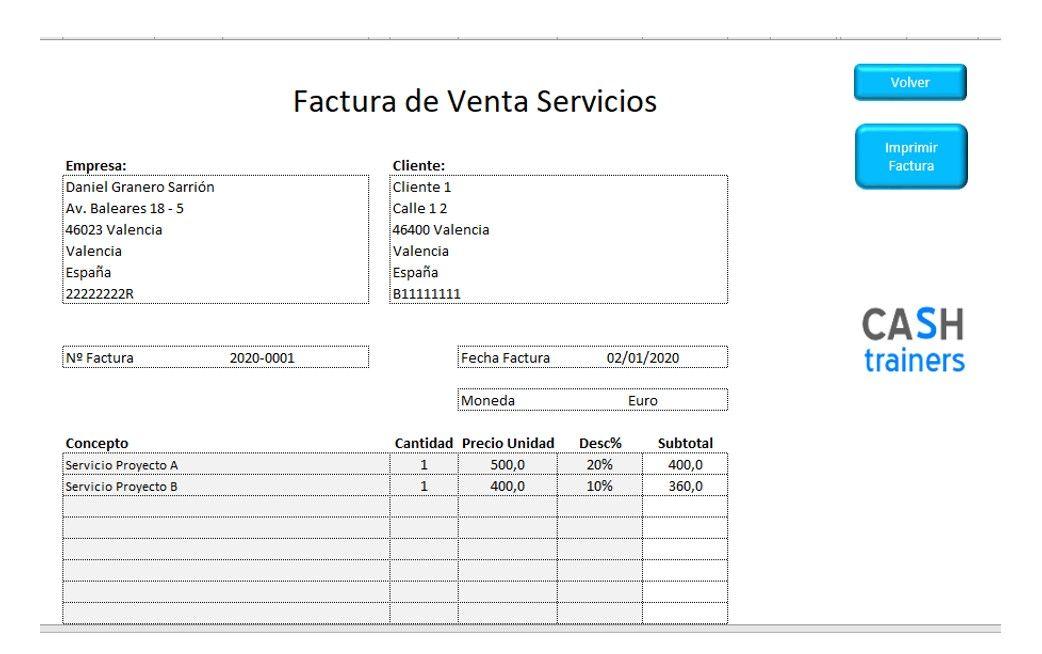 Plantilla Excel Gratis Facturas Venta