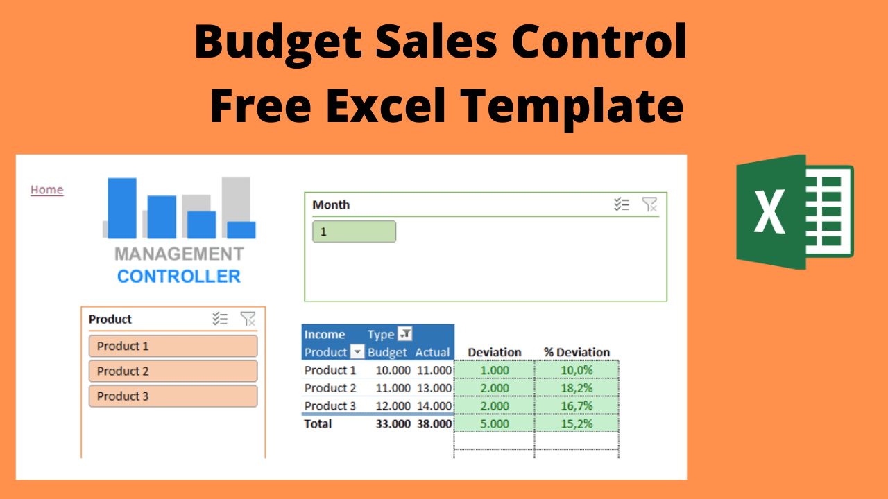 Budget Sales Control Free Excel Template