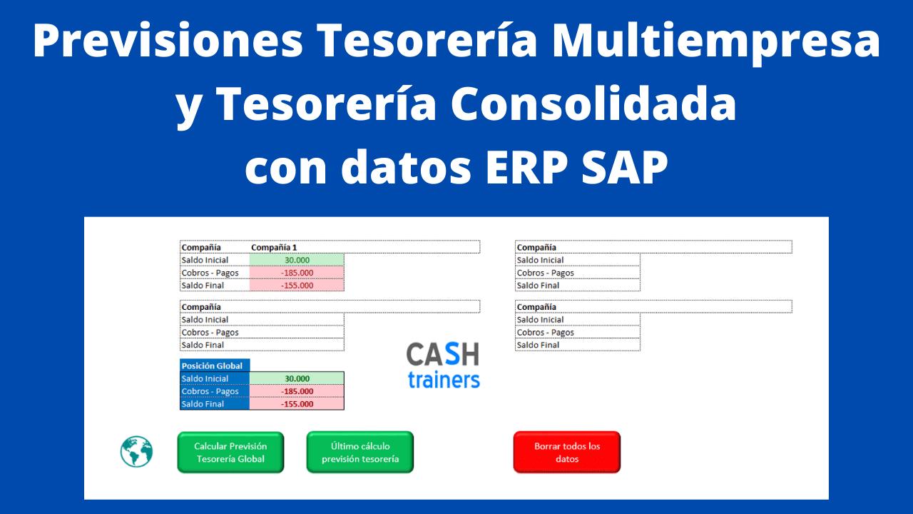 Previsiones Tesorería Multiempresa datos ERP SAP