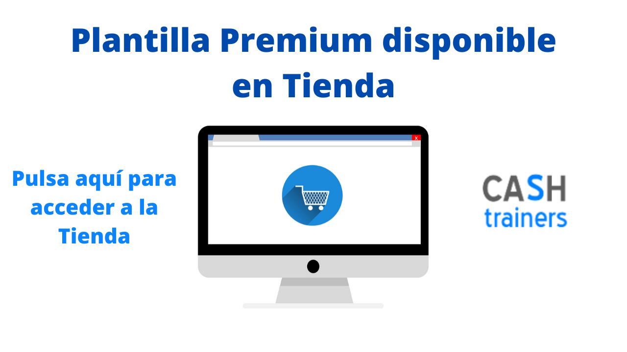 Plantilla Premium disponible en Tienda