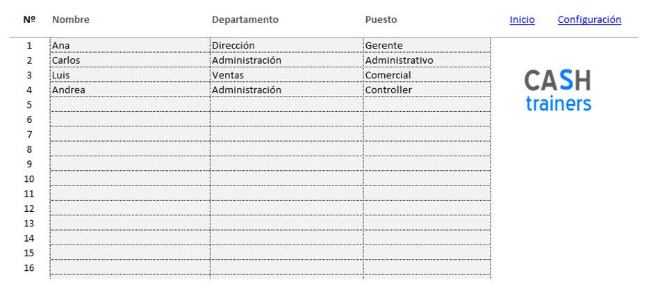 Control Ausencias Empleados Plantilla Excel Gratis