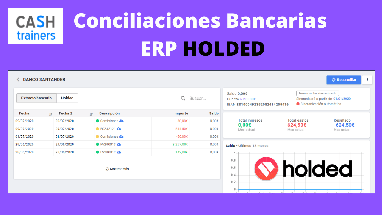 Conciliaciones bancarias ERP HOLDED