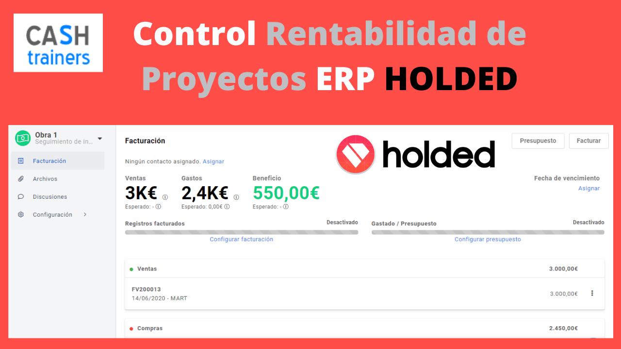 Control Rentabilidad de Proyectos ERP HOLDED