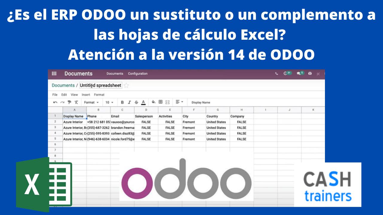 ERP ODOO 14 un sustituto o un complemento Excel