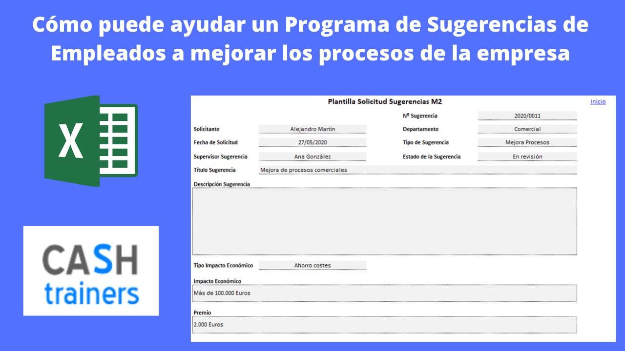 Programa Sugerencias o Ideas Empleados Plantilla Excel Gratis