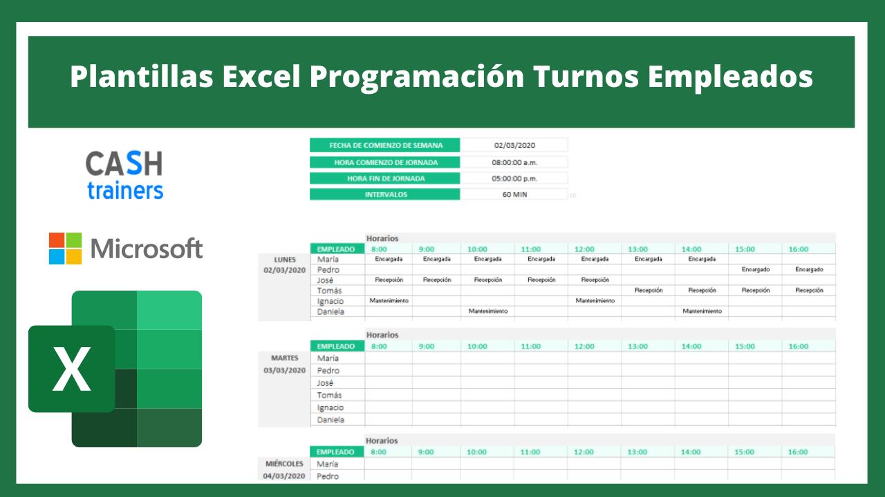 Plantillas Excel Programación Turnos Empleados