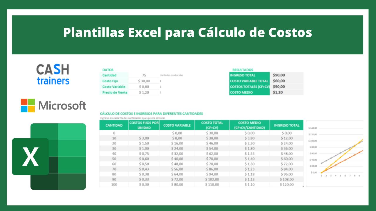 Plantillas Excel para Cálculo de Costos