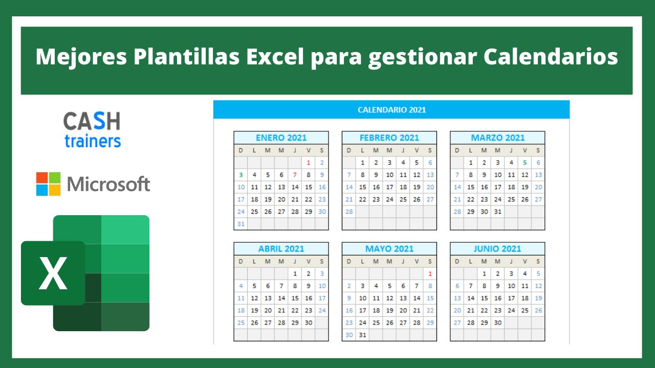 Plantillas Excel para gestionar Calendarios
