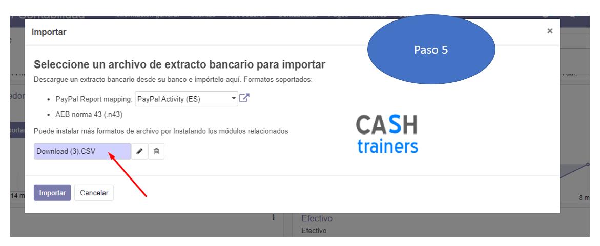 Importación extractos Paypal y conciliación bancaria ERP ODOO