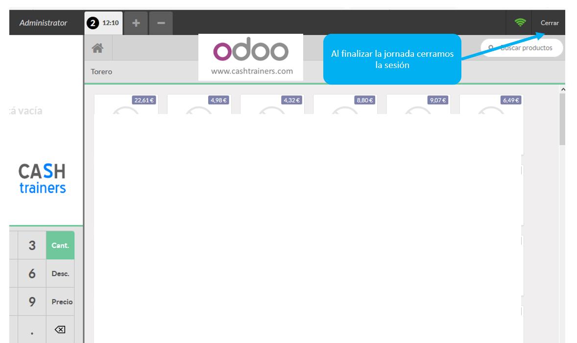 Control Saldos Caja gestión y contable TPV ERP ODOO