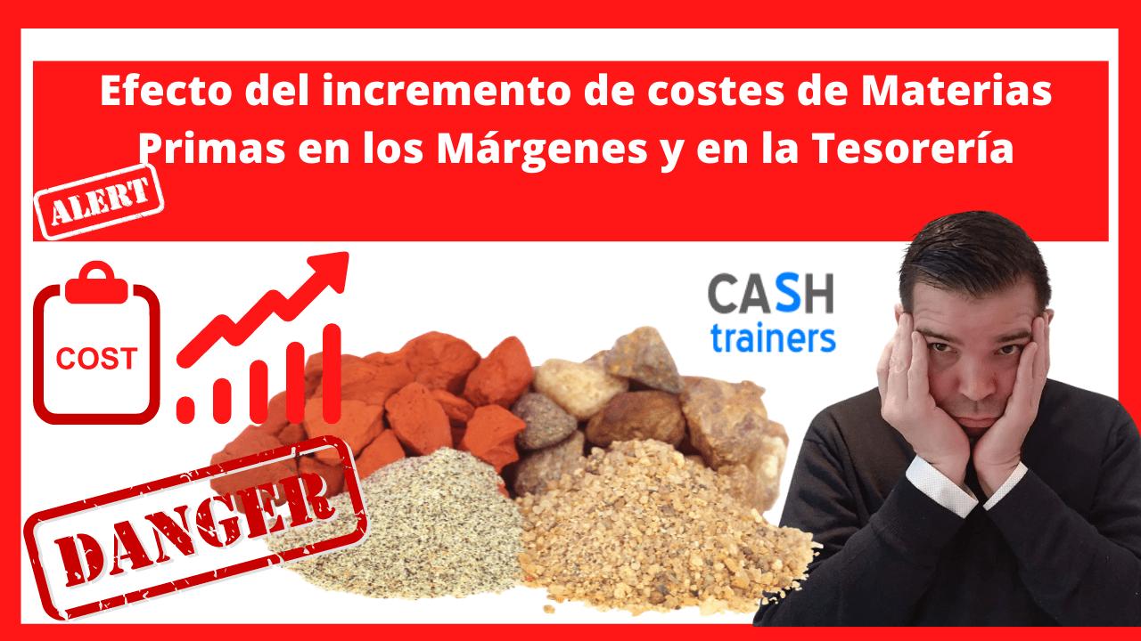 Efecto del incremento de costes de Materias Primas en los Márgenes y en la Tesorería