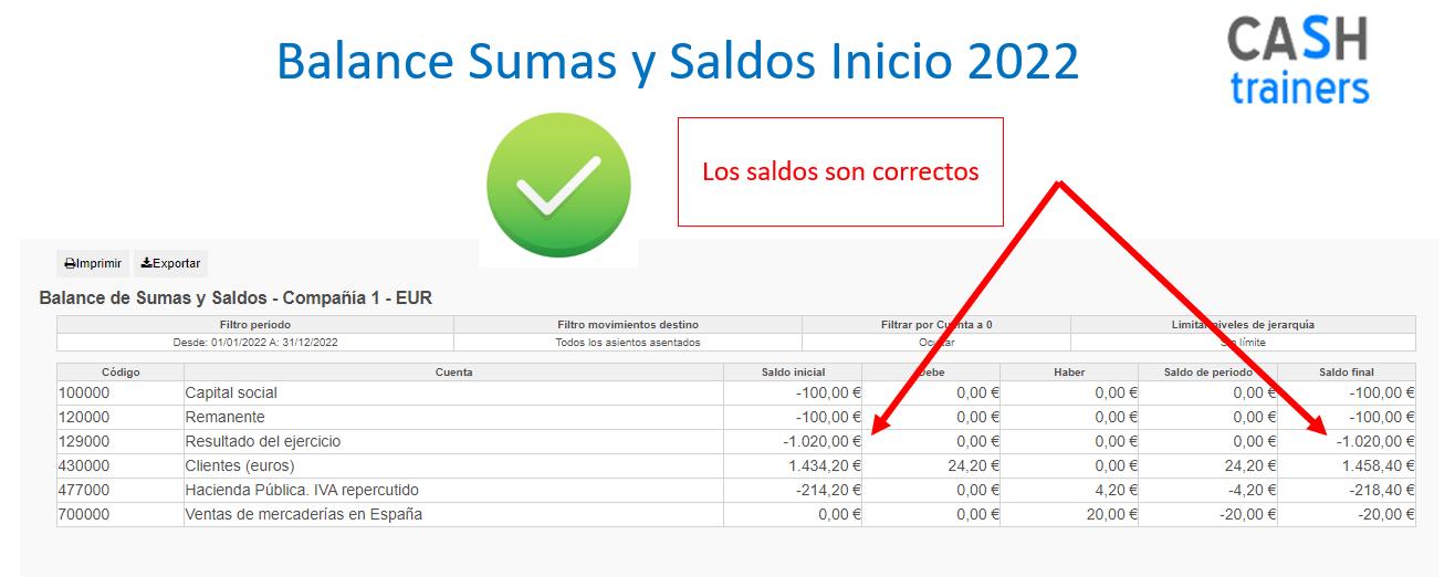 Saldo cuenta 129 versiones ODOO sin proceso cierre contable