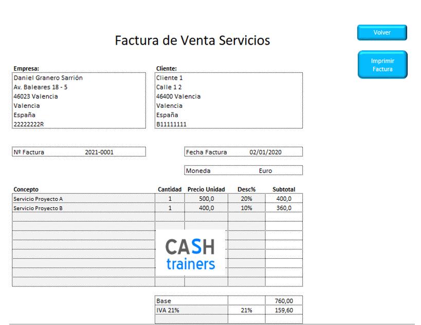 Emisión y Control Pagos 500 Facturas con Excel Gratis M2