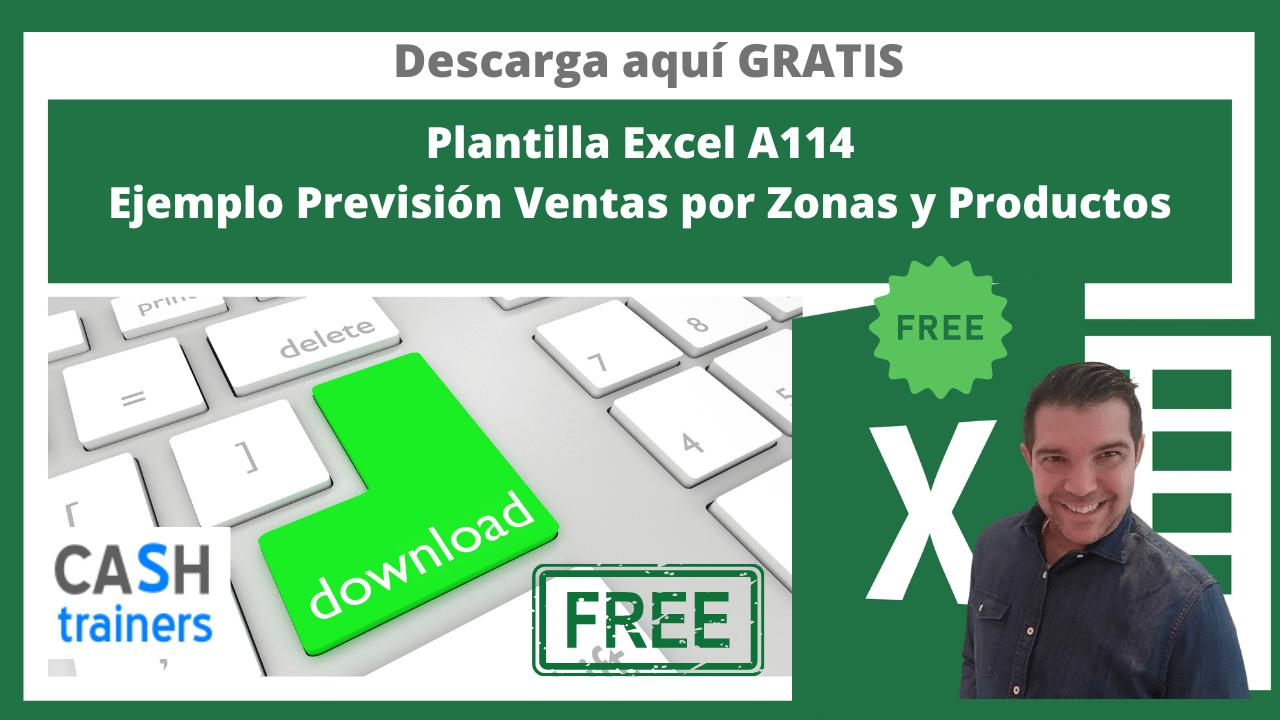 Plantilla Excel Ejemplo Previsión Ventas por Zonas y Productos