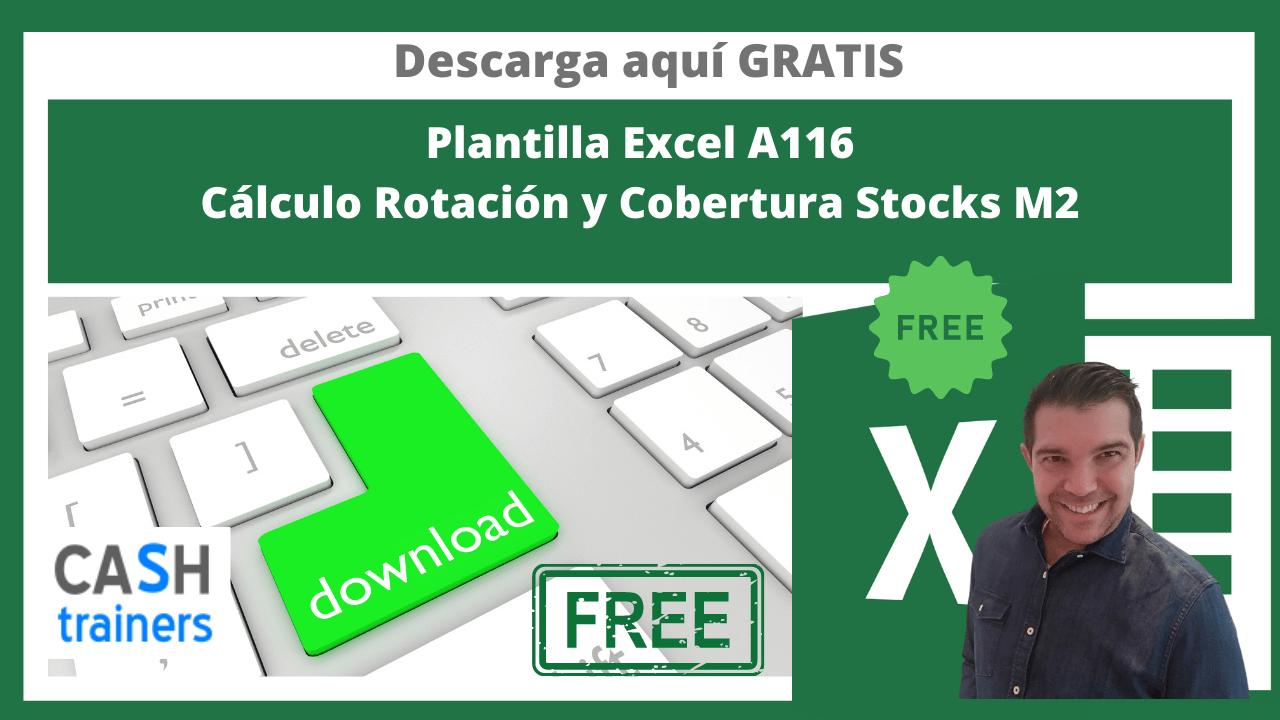 Plantilla Excel Gratis Cálculo Rotación y Cobertura Stocks M2
