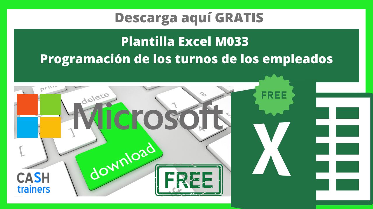 Plantilla Excel Gratis M033 Programación de los turnos de los empleados