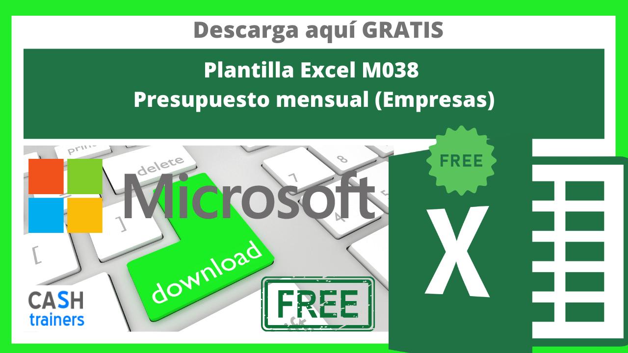 Plantilla Excel Gratis M038 Presupuesto mensual (Empresas)