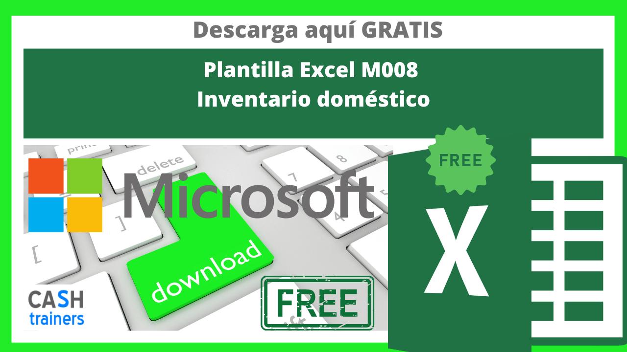 Plantilla Excel Gratis M008 Inventario doméstico