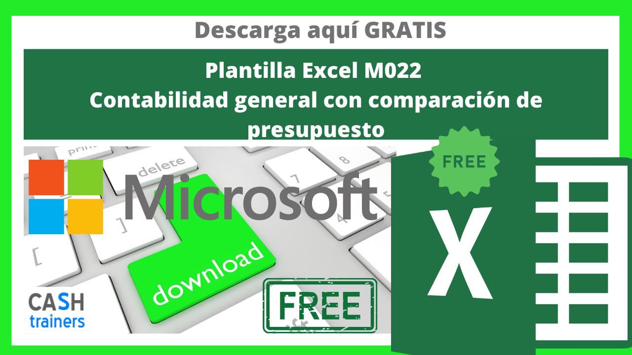 Plantilla Excel Gratis M022 Contabilidad general con comparación de presupuesto