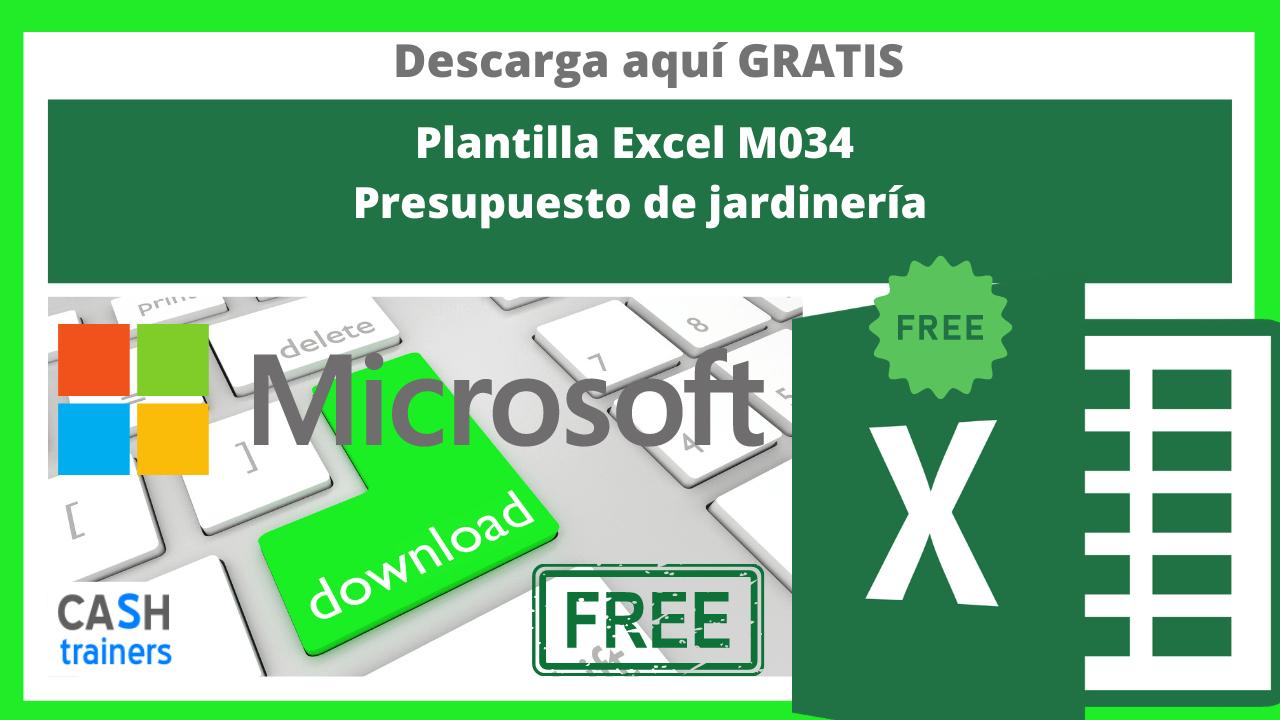 Plantilla Excel Gratis M034 Presupuesto de jardinería
