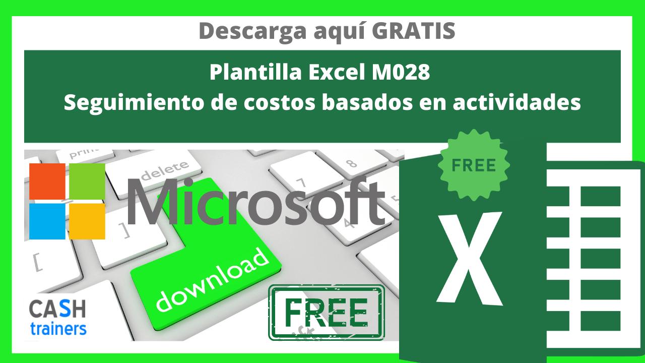 Plantilla Excel Gratis M028 Seguimiento de costos basados en actividades