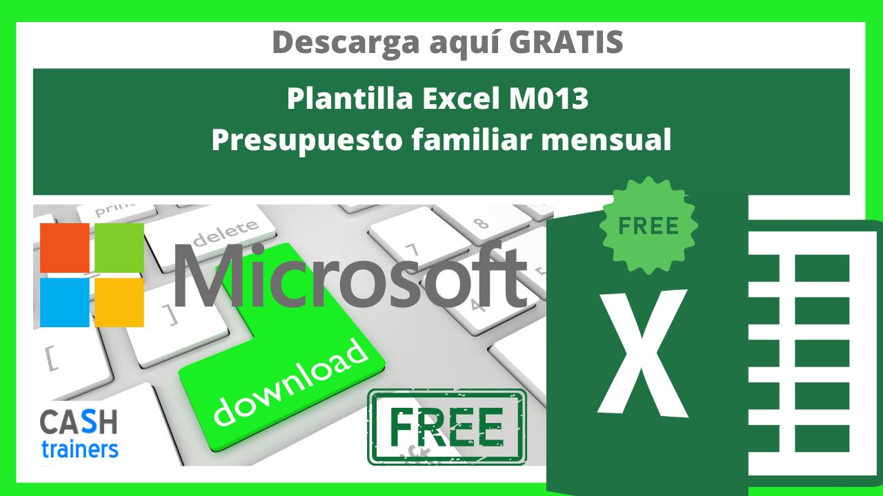 Plantilla Excel Gratis M013 Presupuesto familiar mensual